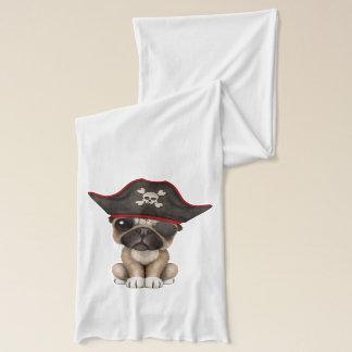 Cute Pug Puppy Pirate Scarf