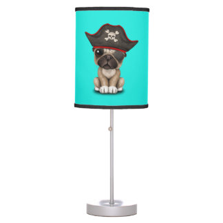 Cute Pug Puppy Pirate Table Lamp