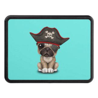 Cute Pug Puppy Pirate Trailer Hitch Cover