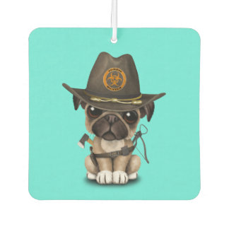 Cute Pug Puppy Zombie Hunter Air Freshener