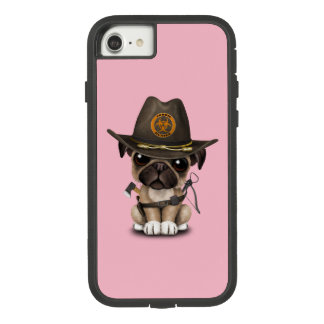 Cute Pug Puppy Zombie Hunter Case-Mate Tough Extreme iPhone 8/7 Case