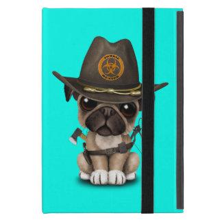 Cute Pug Puppy Zombie Hunter Cover For iPad Mini
