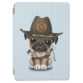 Cute Pug Puppy Zombie Hunter iPad Air Cover