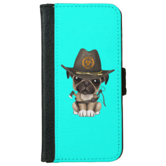 Cute Pug Puppy Zombie Hunter iPhone 6 Wallet Case