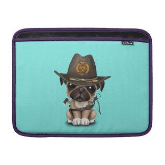Cute Pug Puppy Zombie Hunter MacBook Sleeve