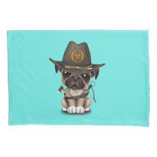 Cute Pug Puppy Zombie Hunter Pillowcase