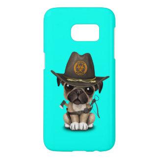 Cute Pug Puppy Zombie Hunter Samsung Galaxy S7 Case