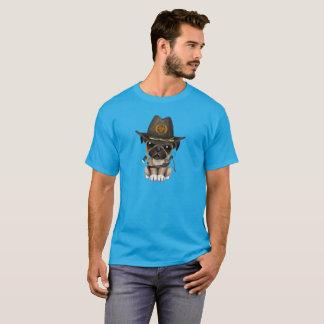 Cute Pug Puppy Zombie Hunter T-Shirt