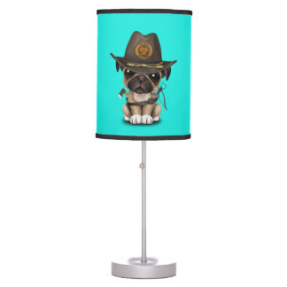 Cute Pug Puppy Zombie Hunter Table Lamp
