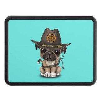Cute Pug Puppy Zombie Hunter Trailer Hitch Cover