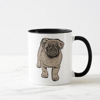 Cute Pug Ringer Combo Mug