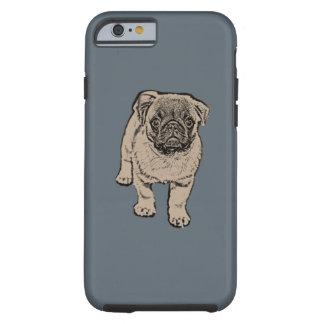 Cute Pug Tough iPhone 6/6s Case - gray