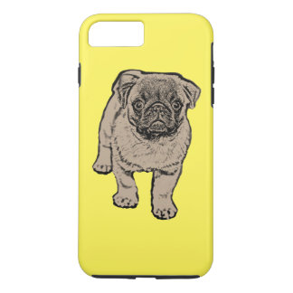 Cute Pug Tough iPhone 7 Plus Case - Yellow