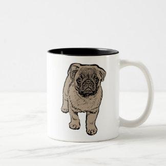 Cute Pug Two-Tone Mug