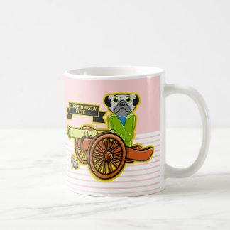 Cute Pug With A Cannon Coffee Mug