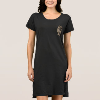Cute Pug Women's Alternative Pocket Dress -Black