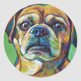 Cute PUGGLE Classic Round Sticker