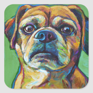 Cute PUGGLE Square Sticker