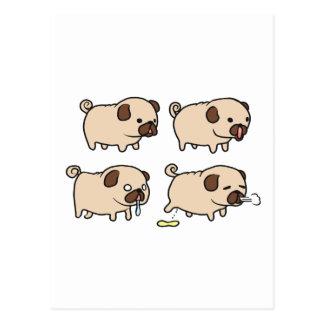 Cute Pugs Postcards