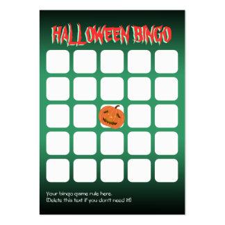 Cute Pumpkin 5x5 Scary Halloween Party Bingo Card Large Business Card