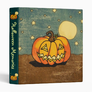 Cute Pumpkin Against Moon Binder