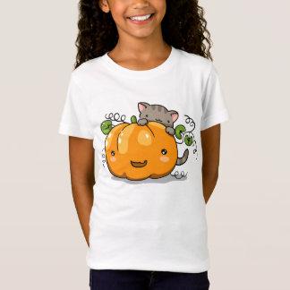 Cute pumpkin and kitten t-shirt