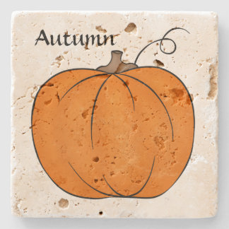 Cute pumpkin design stone coaster
