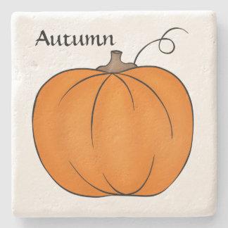 Cute pumpkin design stone coaster