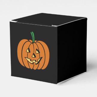 Cute Pumpkin Face Halloween Jack-O-Lantern Favor Boxes