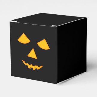 Cute Pumpkin Face Halloween Jack-O-Lantern Favor Box