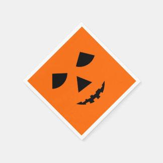 Cute Pumpkin Face Halloween Jack-O-Lantern Disposable Napkin