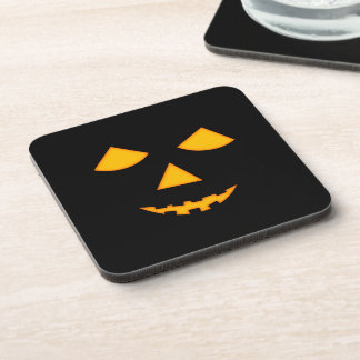 Cute Pumpkin Face Jack o Lantern Halloween Coaster