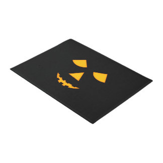 Cute Pumpkin Face Jack o Lantern Halloween Doormat