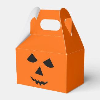 Cute Pumpkin Face Jack-O-Lantern Halloween Favor Box