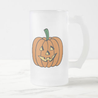 Cute Pumpkin Jack O Lantern Halloween Beer Mug
