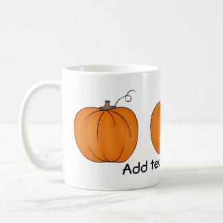 Cute pumpkin mug for your text