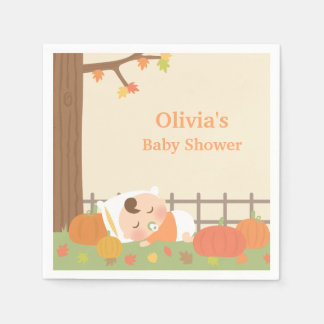 Cute Pumpkin Patch Baby Shower Napkins Disposable Napkin
