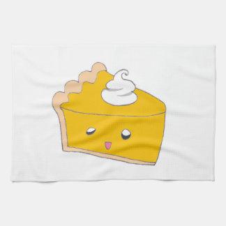 Cute Pumpkin Pie Slice Hand Towels