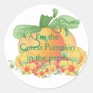 Cute Pumpkin Round Sticker