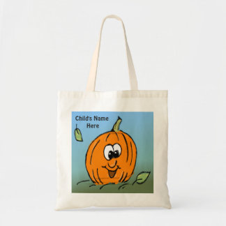 Cute Pumpkin Smiling Friendly Halloween Tote Bag