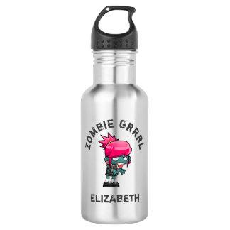 Cute Punk Rock Zombie Grrrl 532 Ml Water Bottle