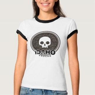 Cute Punk Skull Idaho T-Shirt Ringer