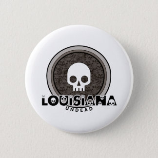 Cute Punk Skull Louisiana Button