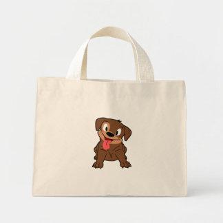 Cute Pup Tiny Tote Bag