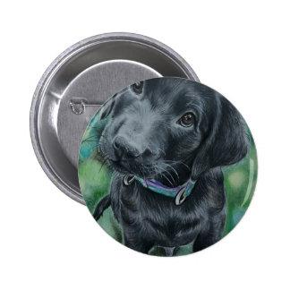 Cute puppy 2 inch round button