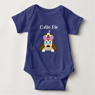 Cute Puppy Baby Body Suit Baby Bodysuit