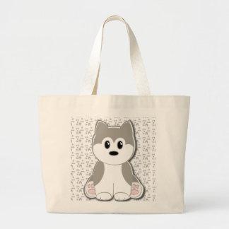 Cute puppy cartoon tote bag