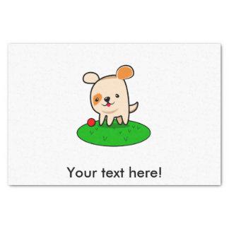 Cute puppy cartoon tissue paper