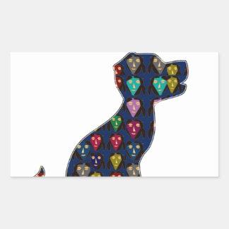 CUTE puppy dog pet dot painted NVN92 navinJOSHI FU Rectangle Stickers