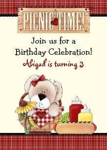 picnic birthday invitations announcements zazzle ca